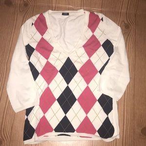 J Crew 1/3 Sleeve lightweight sweater top